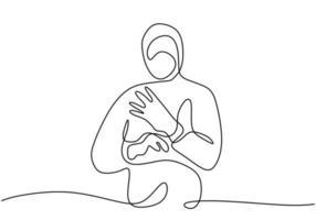 een lijntekening kunst van medisch personeel beschermend pak dragen en beschermende handschoenen aantrekken geïsoleerd op een witte achtergrond. bescherming tegen ziekte, griep, luchtverontreiniging, pandemie, virus vector