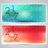 Decoratieve gelukkig Nieuwjaar achtergronden vector