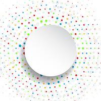 Polka dot achtergrond vector