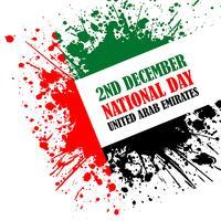 Grunge stijl afbeelding voor VAE National Day