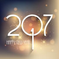 Gelukkige Nieuwjaarachtergrond met decoratieve teksten vector