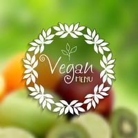 Decoratief veganistisch menuontwerp vector