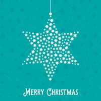 Kerst ster achtergrond vector