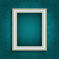 Fotolijst op vintage behang vector