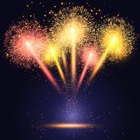 Vuurwerk achtergrond vector