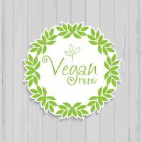 Veganistisch menu-ontwerp vector