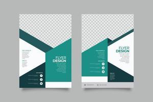 abstracte zakelijke groene geometrische sjabloon folder vector