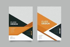 abstract oranje geometrische folder sjabloon