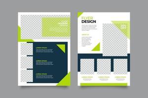 abstracte limoen geometrische folder sjabloon