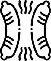 lijn pictogram voor worst