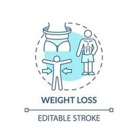 gewichtsverlies concept pictogram vector