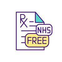 recept gratis geneeskunde kleur pictogram vector