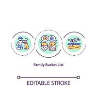 familie emmer lijst concept pictogram vector