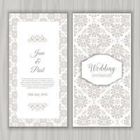 Decoratieve bruiloft uitnodiging ontwerp vector