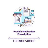 bieden medicatie recept concept pictogram vector