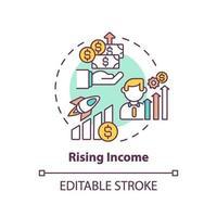 stijgend inkomen concept pictogram vector