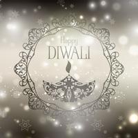 Decoratieve diwali achtergrond