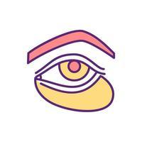 verzonken ogen kleur pictogram vector