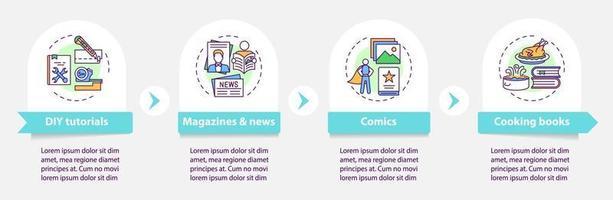 online bibliotheek catalogus vector infographic sjabloon