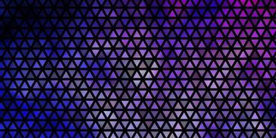 lichtroze, blauwe vectorachtergrond met lijnen, driehoeken. vector
