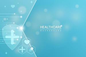 gezondheidszorg, medische, technologie en wetenschap behangsjabloon. vector illustratie