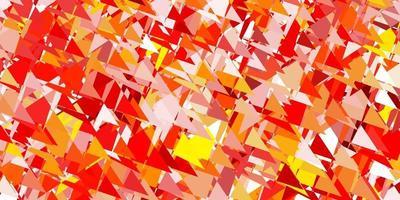 lichtoranje vector achtergrond met veelhoekige vormen.