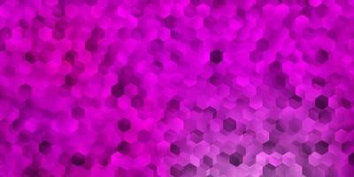 lichtroze vector sjabloon in een zeshoekige stijl.