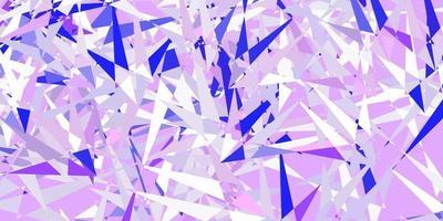 lichtroze, blauwe vectorachtergrond met veelhoekige vormen. vector