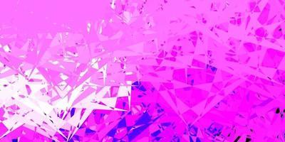 lichtpaars, roze vector sjabloon met driehoekige vormen.