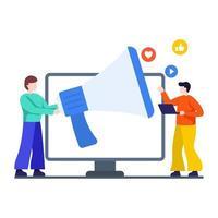 sociale media promotie concept