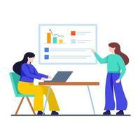 zakelijke bijeenkomst agenda concept vector