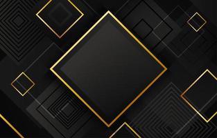 geometrische zwarte en gouden achtergrond vector