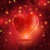 Decoratieve hartachtergrond vector