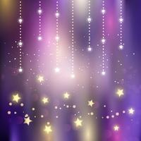 Kerst magische sterren achtergrond vector