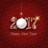 Gelukkig Nieuwjaar bauble achtergrond vector
