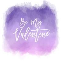 Wees mijn Valentijn aquarel achtergrond vector