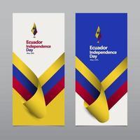 gelukkige ecuador onafhankelijkheidsdag viering vector sjabloon ontwerp illustratie