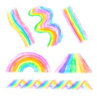 Rainbow Shapes-collectie vector