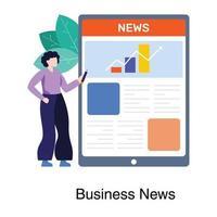zakelijk nieuws app-concept vector