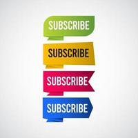 abonneren tag label vector sjabloon ontwerp illustratie
