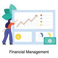 financieel beheer in bedrijfsconcept