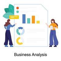 bedrijfsanalyse en rapportageconcept vector