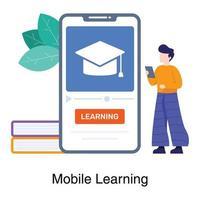 online leren app-concept