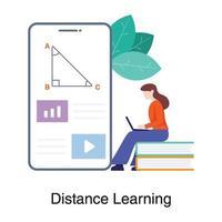 afstandsonderwijs app-concept