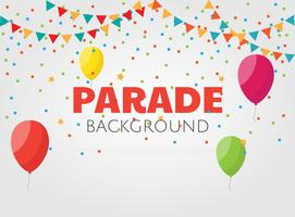 Parade achtergrond vector