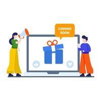 een nieuw productconcept promoten