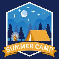 Summer Camp-patch vector