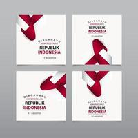 gelukkige dag van de onafhankelijkheid van Indonesië vector sjabloon illustratie