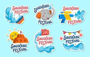 songkran festival stickercollectie
