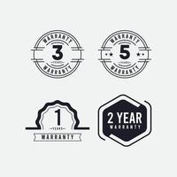 jaar garantie logo pictogram vector sjabloon ontwerp illustratie